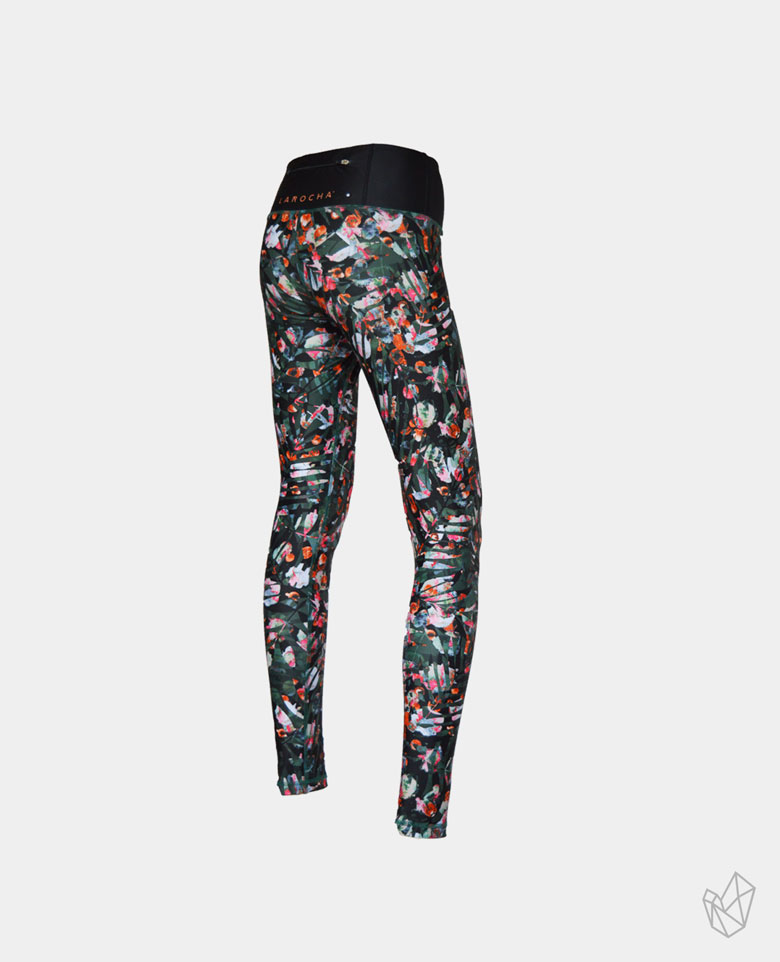 La Rocha Sportlegging Sportbroek Sportswear sportoutfit legging broek tight outfit LaRochasportswear LaRocha lang lange long wild leaves orange oranje bladeren legergroen